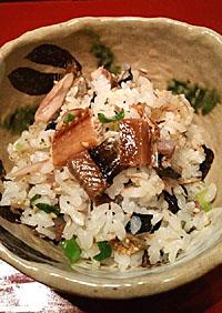 サンマ干物の混ぜご飯