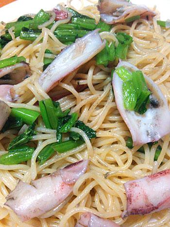 「釜揚げ子イカと小松菜のパスタ」作り方とレシピ