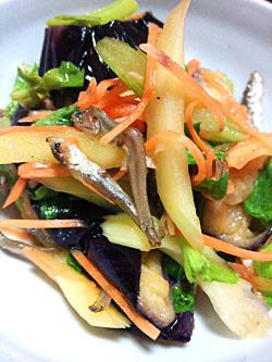 「春茄子と平子ちりめんの南蛮サラダ」作り方とレシピ