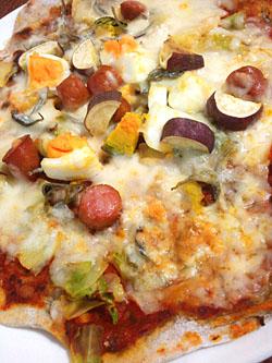 「高知産そば粉の旬野菜&じゃこのせピザ」作り方とレシピ